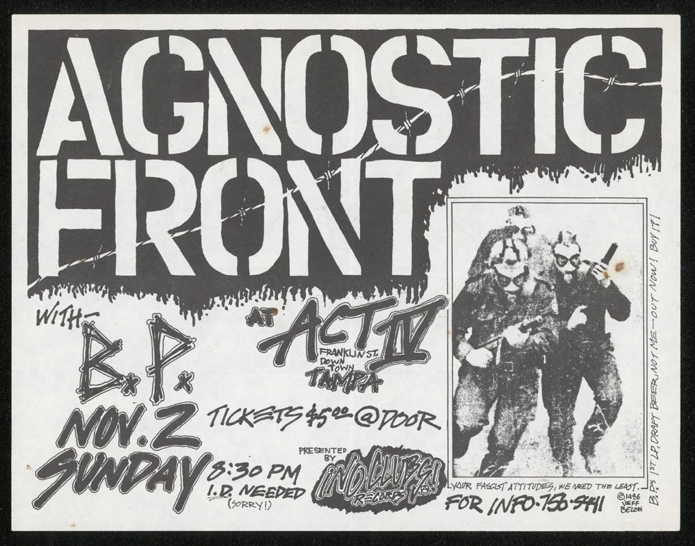 AGNOSTIC FRONT w/ B.P. at Act IV