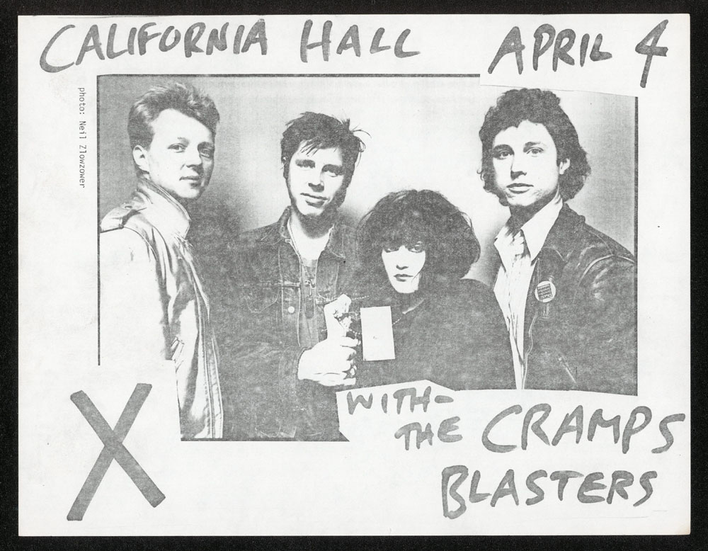 X w/ Cramps, Blasters at California Hall