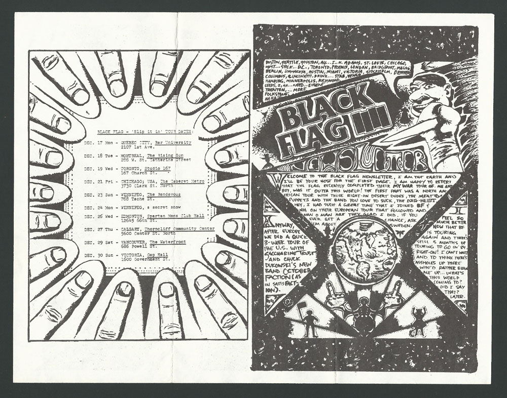 1984 ~ BLACK FLAG newsletter