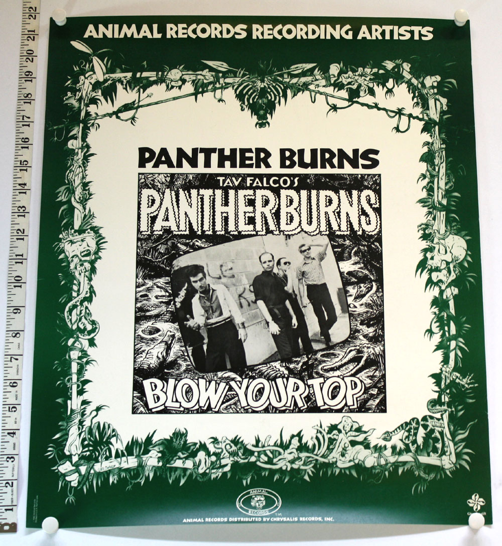 PANTHER BURNS Blow Your Top promo POSTER