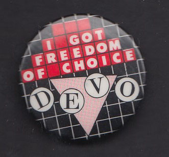 DEVO Freedom of Choice badge