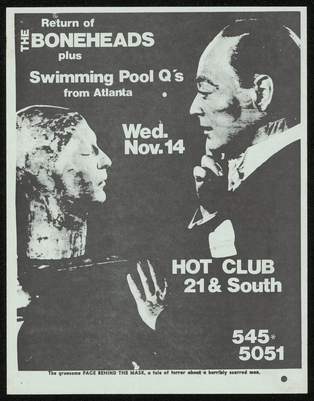 BONEHEADS w/ Swimming Pool Q's at Hot Club