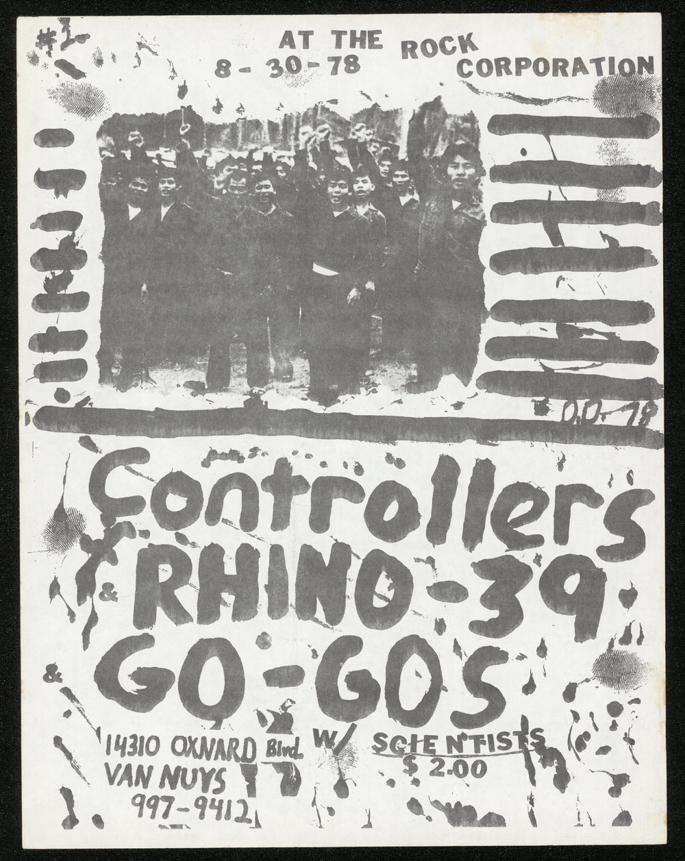 CONTROLLERS w/ Rhino 39, Go-Go's, Scientists at Rock Corporation