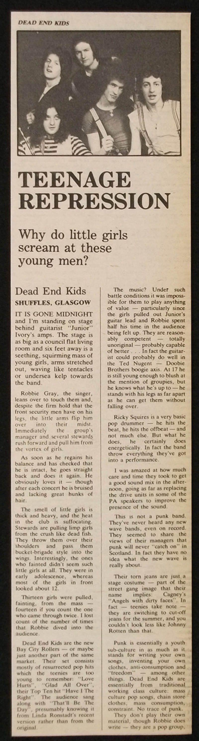 DEAD END KIDS article