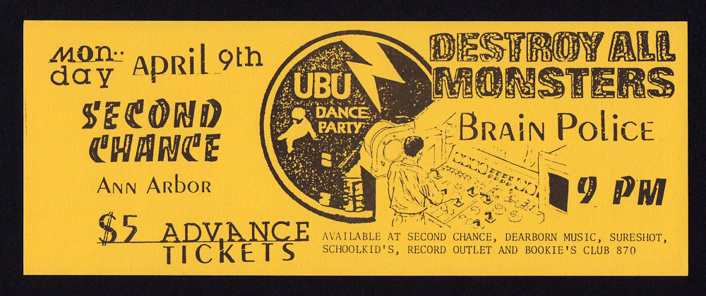 PERE UBU w/ Destroy All Monsters, Brain Police at Second Chance