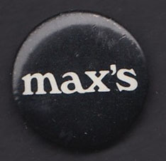 MAX'S KANSAS CITY badge #1