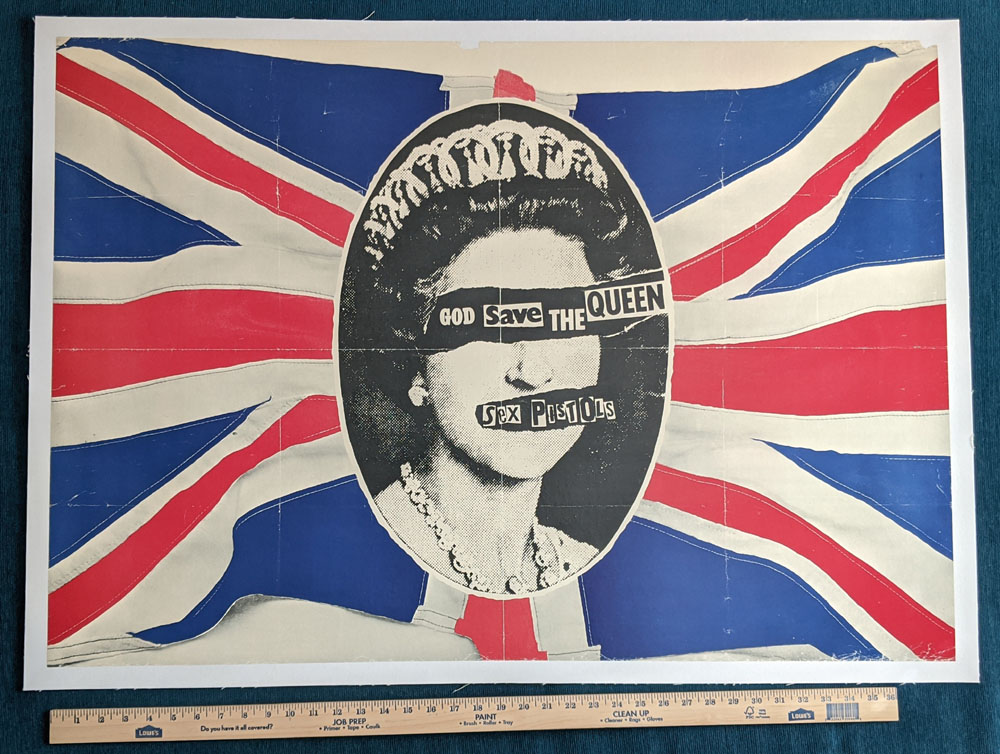 "SEX PISTOLS ""God Save The Queen"" promo POSTER"