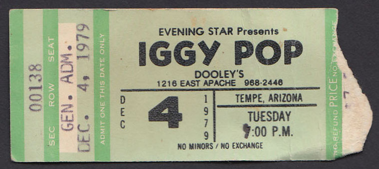IGGY POP at Dooley's 12.04.79