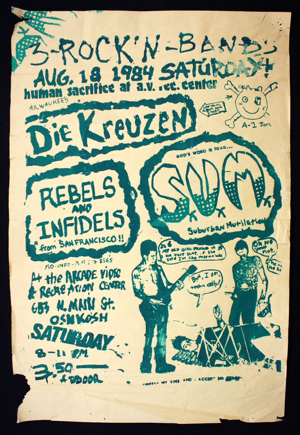 DIE KREUZEN w/ Rebels & Infidels, Suburban Mutilation at Arcade Video