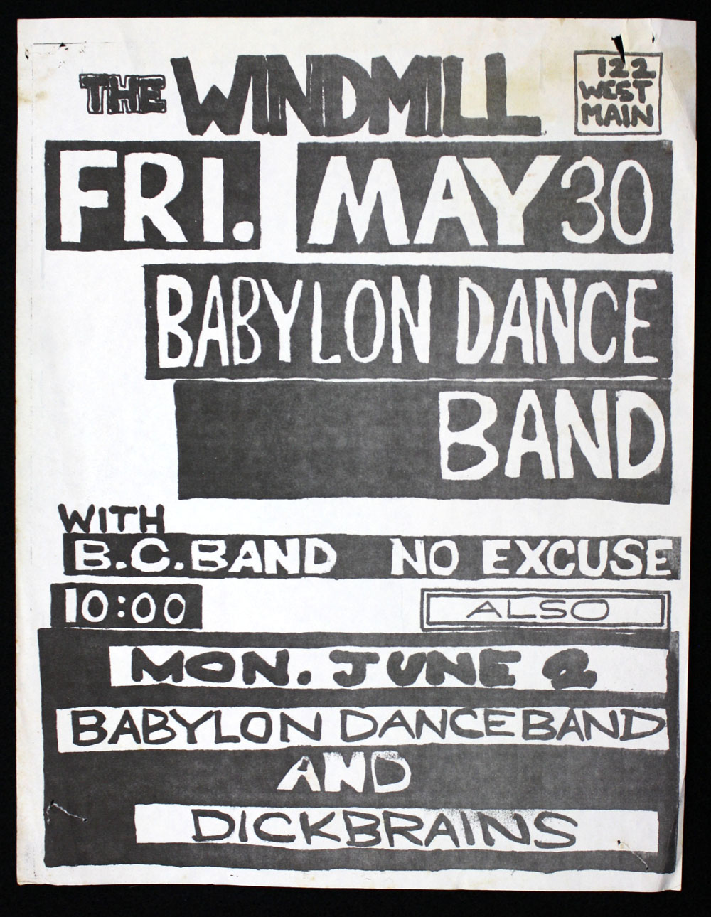 BABYLON DANCE BAND w/ B.C. Band, No Excuse at the Windmill