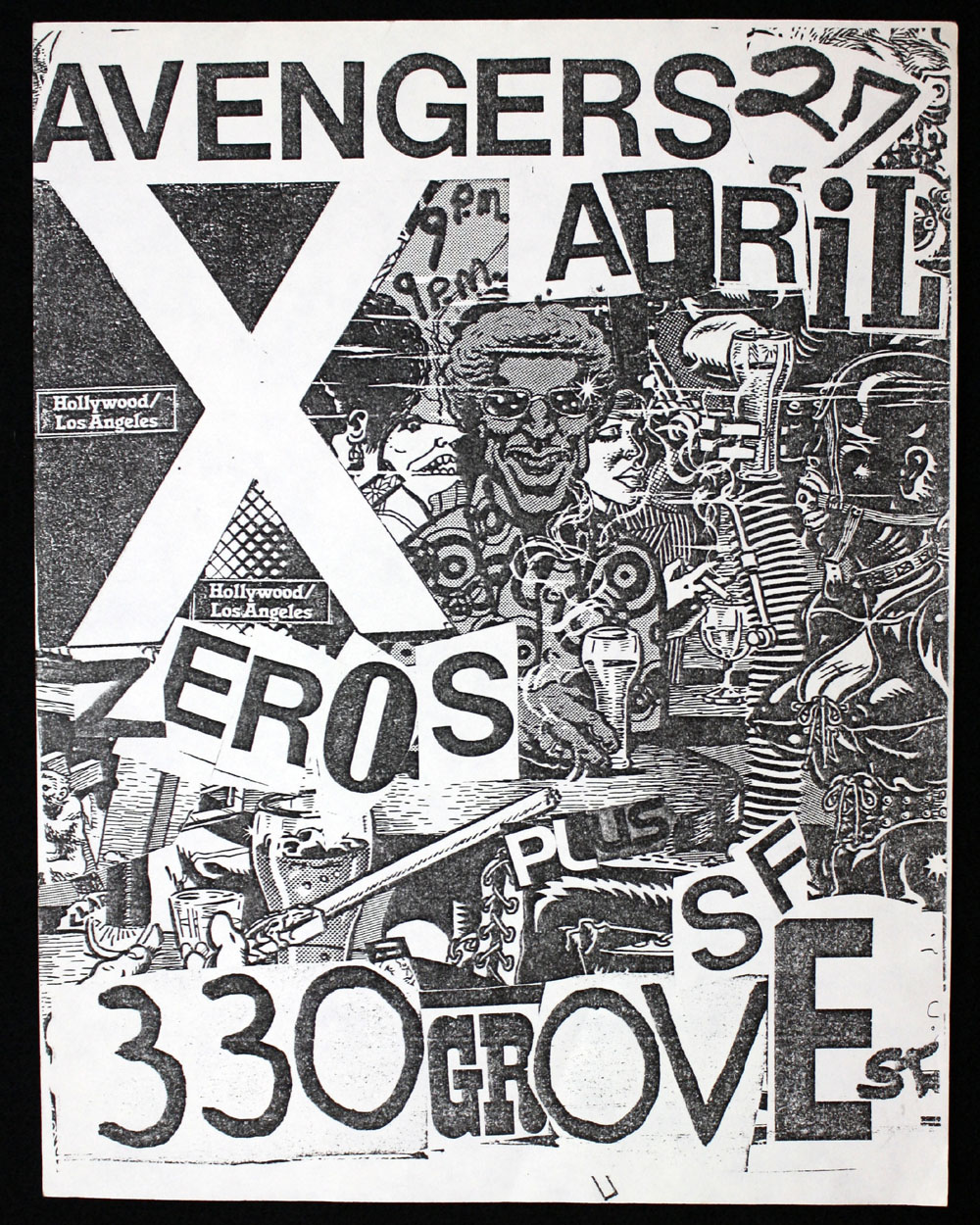 AVENGERS w/ X, Zeros at 330 Grove