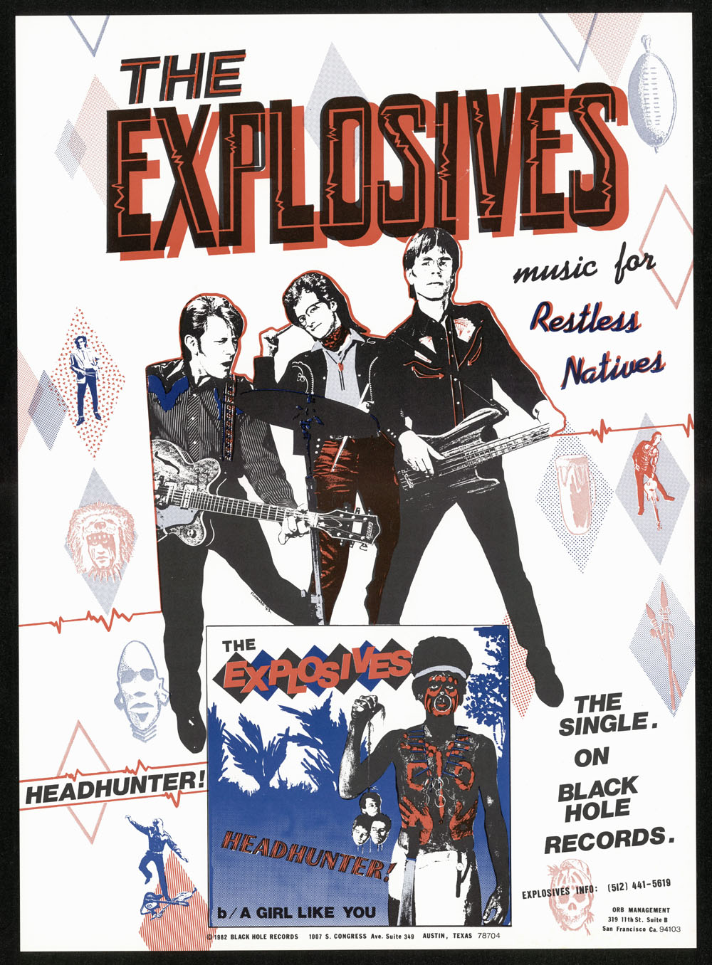 "EXPLOSIVES ""Headhunter"" PROMO POSTER"