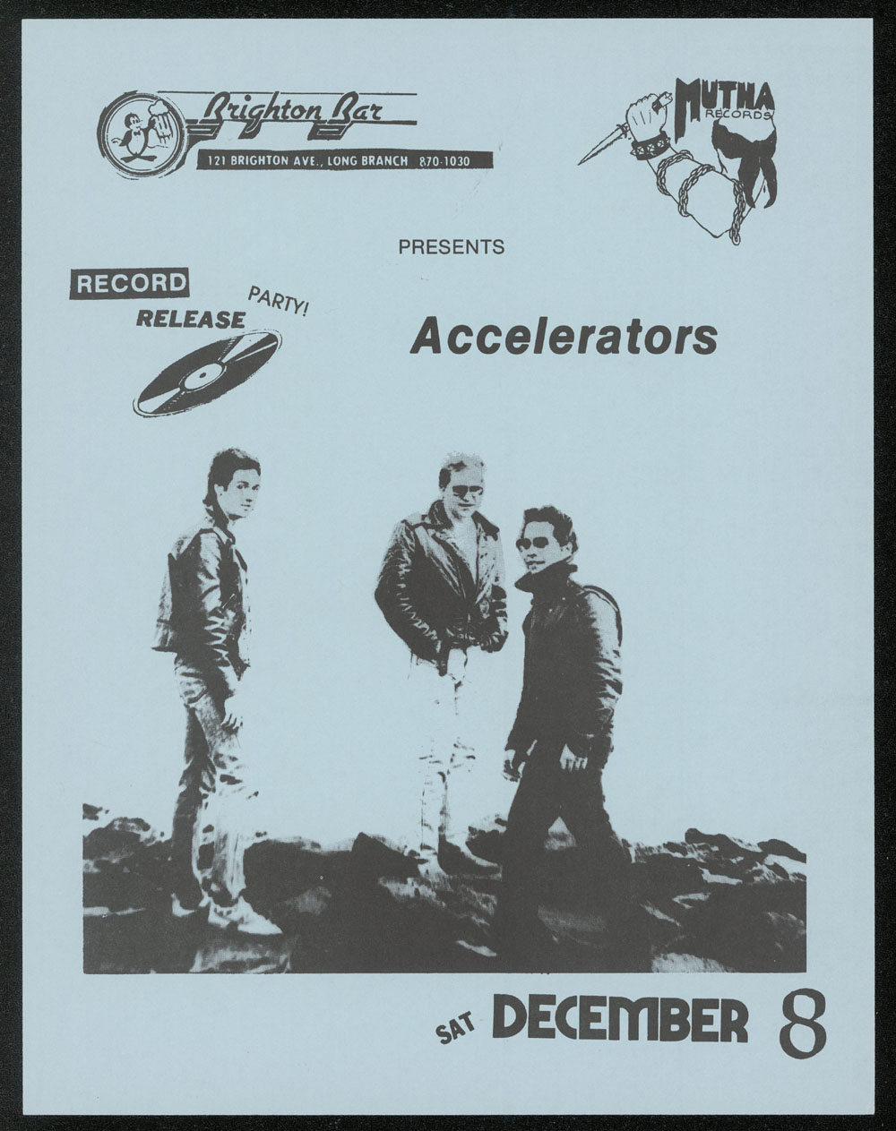 ACCELERATORS at Brighton Bar