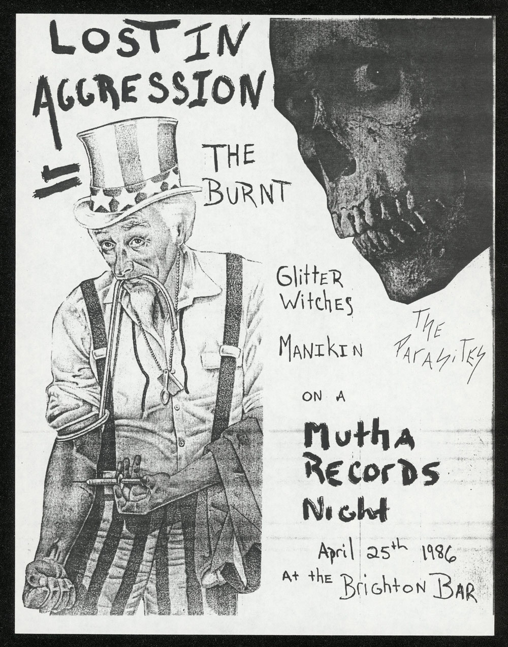 LOST IN AGGRESSION w/ Burnt, Glitter Witch, Manikin, Parasites at Brighton Bar
