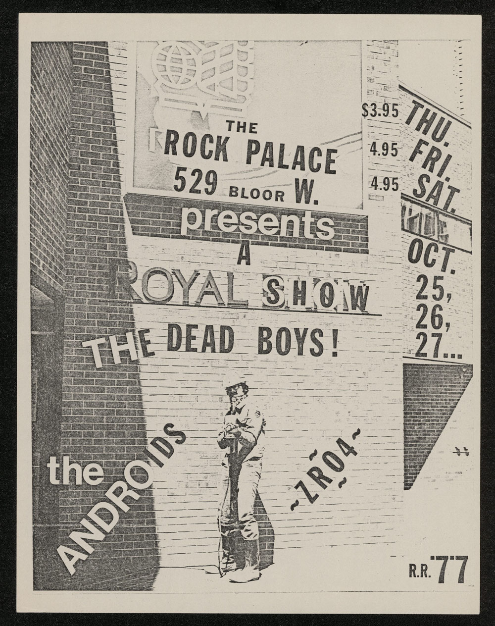 DEAD BOYS w/ Androids at Rock Palace
