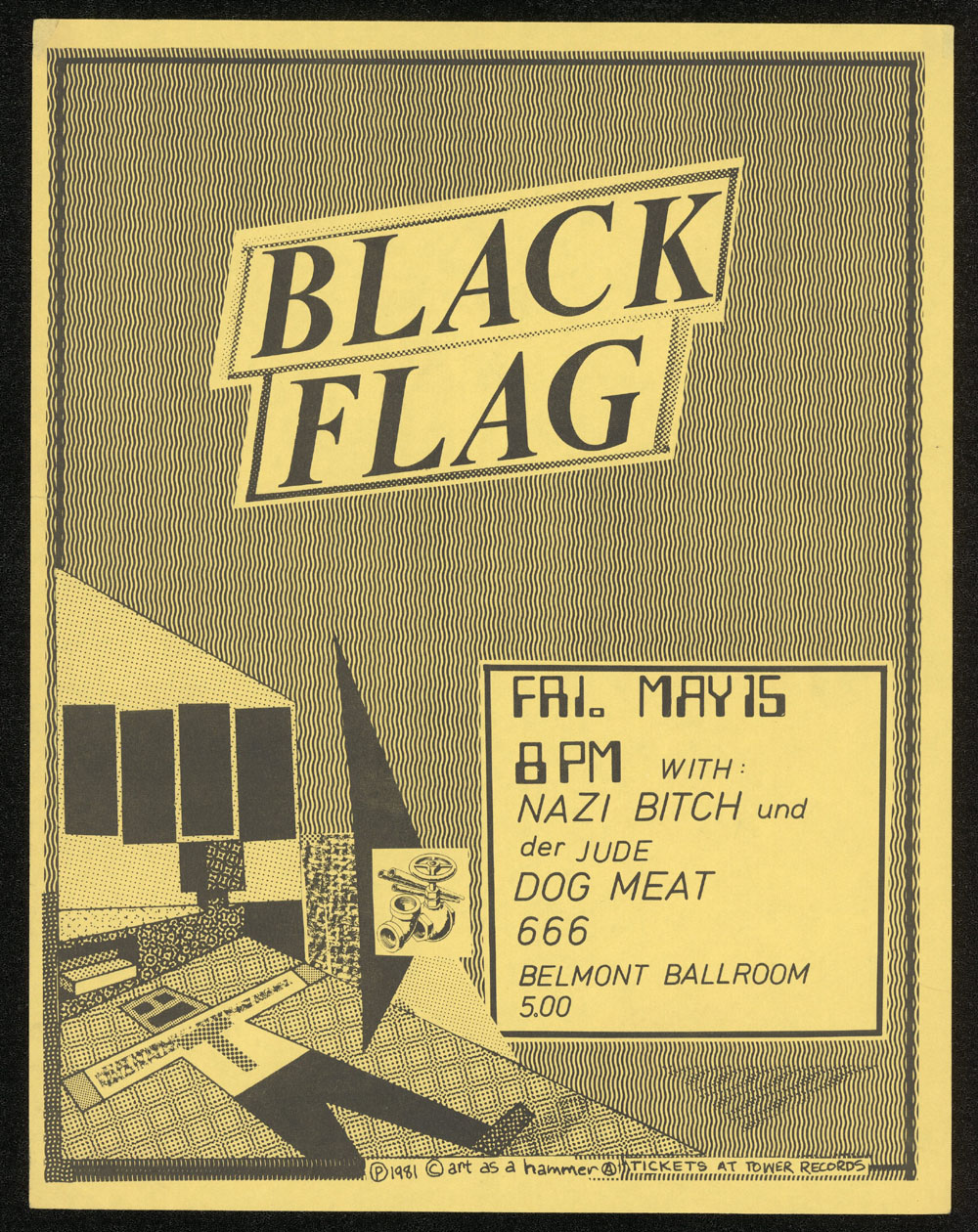BLACK FLAG w/ Nazi Bitch, Dog Meat at Belmont Ballroom