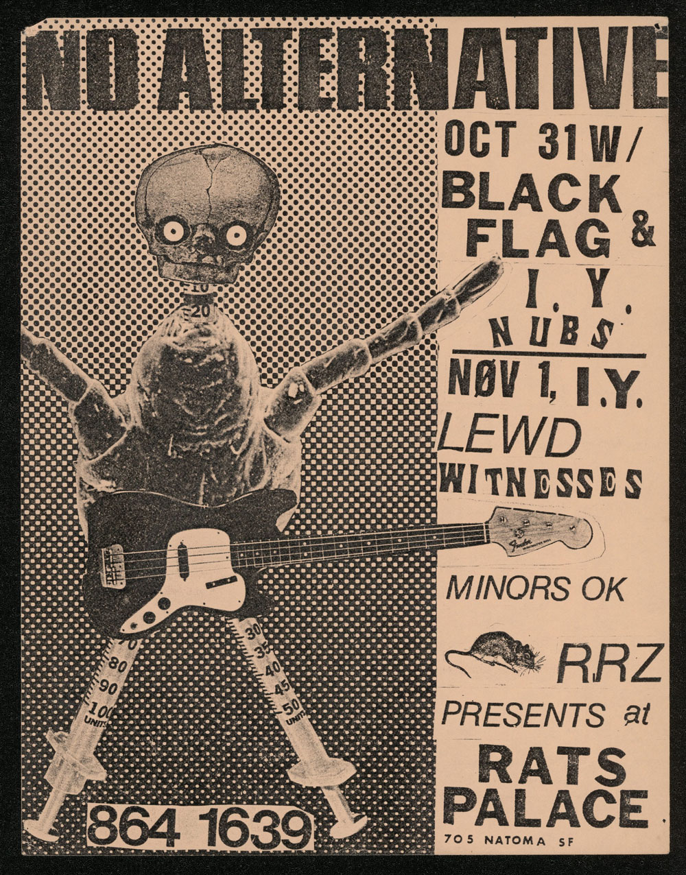 NO ALTERNATIVE w/ Black Flag, Impatient Youth, Nubs, Lewd, Witnesses at Rats Palace