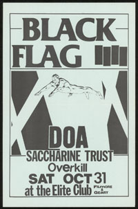 1981 ~ BLACK FLAG at the Elite Club (SF)