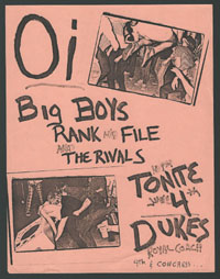 BIG BOYS w/ Rank & File, Rivals at Dukes