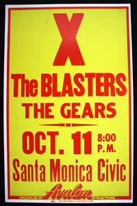 X w/ Blasters, Gears at Santa Monica Civic BOXING STYLE POSTER
