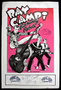 RAY CAMPI & HIS ROCKABILLY REBELS promo poster