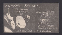 AQUARIUS RECORDS ad