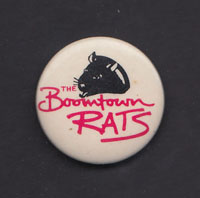 BOOMTOWN RATS badge #1