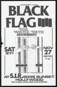 1982 ~ BLACK FLAG at S.I.R. (LA)
