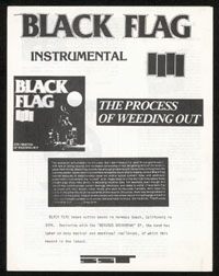 BLACK FLAG ~ The Process of Weeding Out press kit