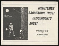 1982 ~ MINUTEMEN at On Broadway (SF)