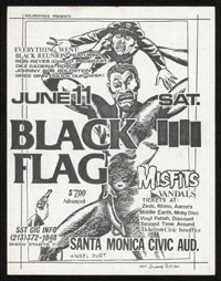 1983 ~ BLACK FLAG at Santa Monica Civic Auditorium (LA)