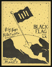 BLACK FLAG w/ Big Boys, Killerwatz at Raul's