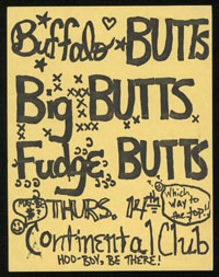 BIG BOYS w/ Buffalo Gals, Fudge Tunnels at Continental Club