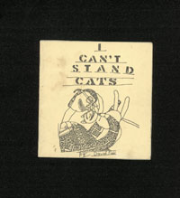 I CAN'T STAND CATS by David Fair
