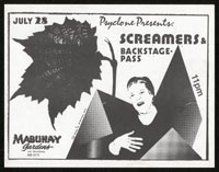 SCREAMERS w/ Backstage Pass at Mabuhay Gardens