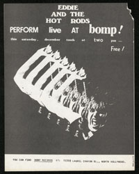 EDDIE & THE HOT RODS at Bomp Records