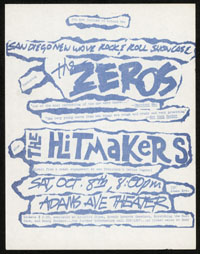 ZEROS w/ Dils, Hitmakers at Adams Avenue Theater