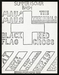 BLACK FLAG w/ Red Cross, Terminals, Mau-Maus at King's Palace