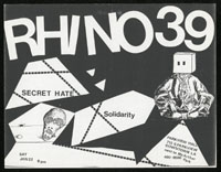 RHINO 39 w/ Secret Hate, Solidarity at Parkview Hall