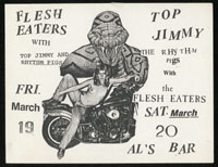 FLESH EATERS w/ Top Jimmy & The Rhythm Pigs at Al's Car