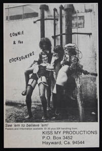 CONNIE & THE COCKSUCKERS ad