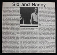 SEX PISTOLS ~ Sid & Nancy clipping