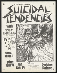 SUICIDAL TENDENCIES w/ Toy Dolls, Big Boys, Social Unrest, Stalag 13 at Perkins Palace