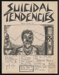 SUICIDAL TENDENCIES w/ Discharge, MDC at La Casa + w/ Discharge, Battalion of Saints, Shattered Faith at Perkins Palace