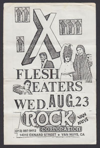 X w/ Flesh Eaters at Rock Corporation