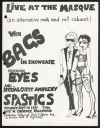 BAGS w/ Eyes, Spastics at the Masque