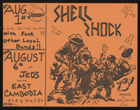 SHELL SHOCK w/ East Cambodia at Jed's + other locals at Jimmy's