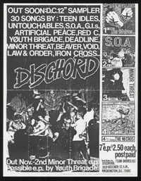 DISCHORD RECORDS promo flier & LETTER #1