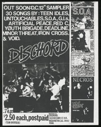 DISCHORD RECORDS promo flier & LETTER #2