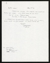 DISCHORD RECORDS letter April 1982